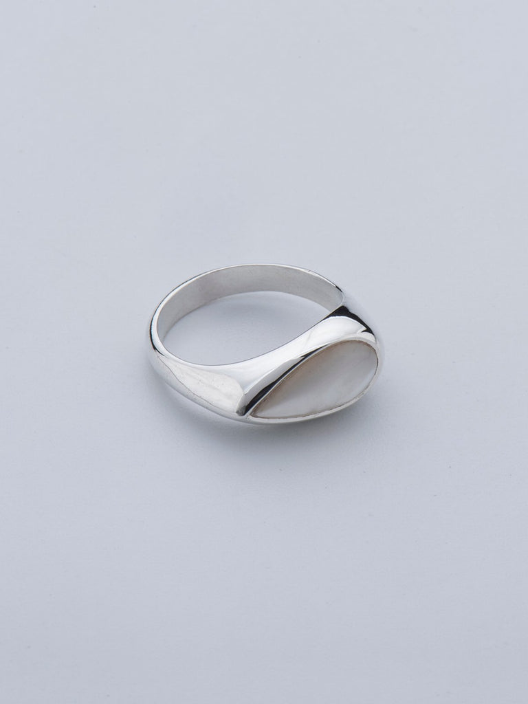 Born From Rock Mother Of Pearl Tear Ring - Moxie Tel-Aviv