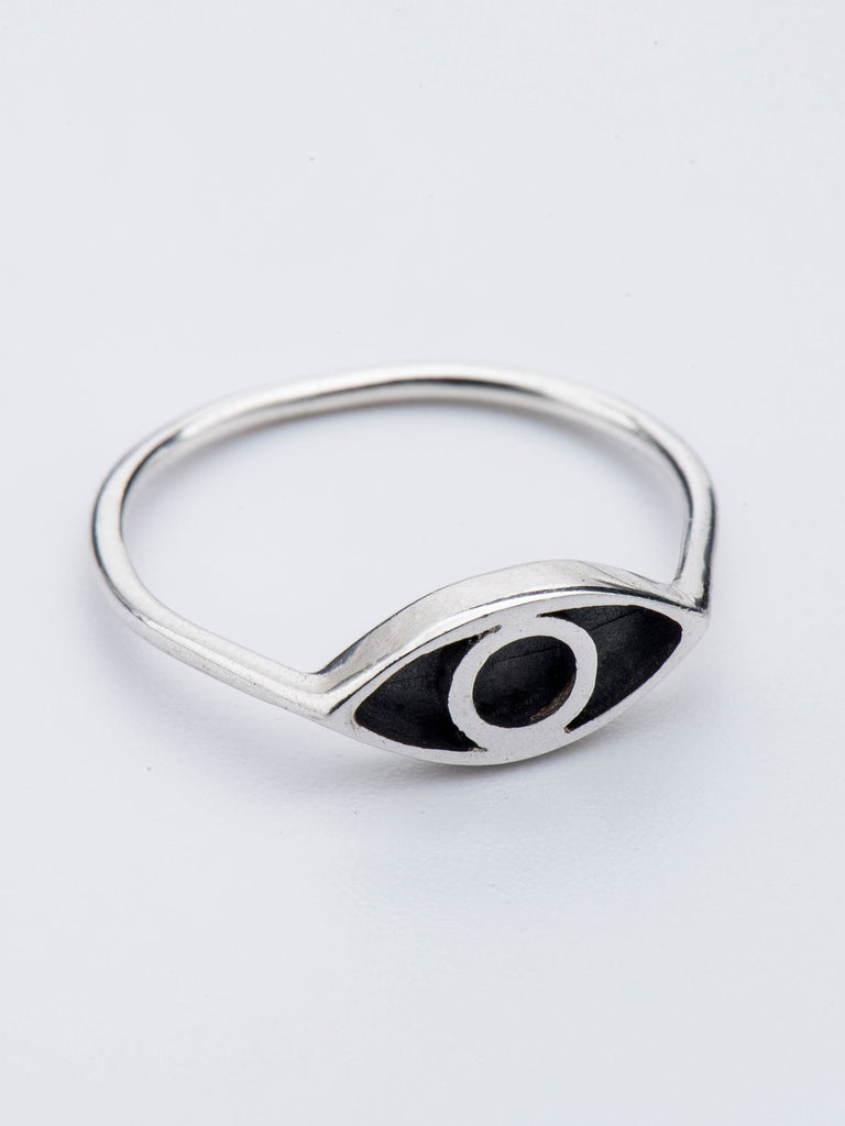 Born From Rock Silver Eye Ring - Moxie Tel-Aviv