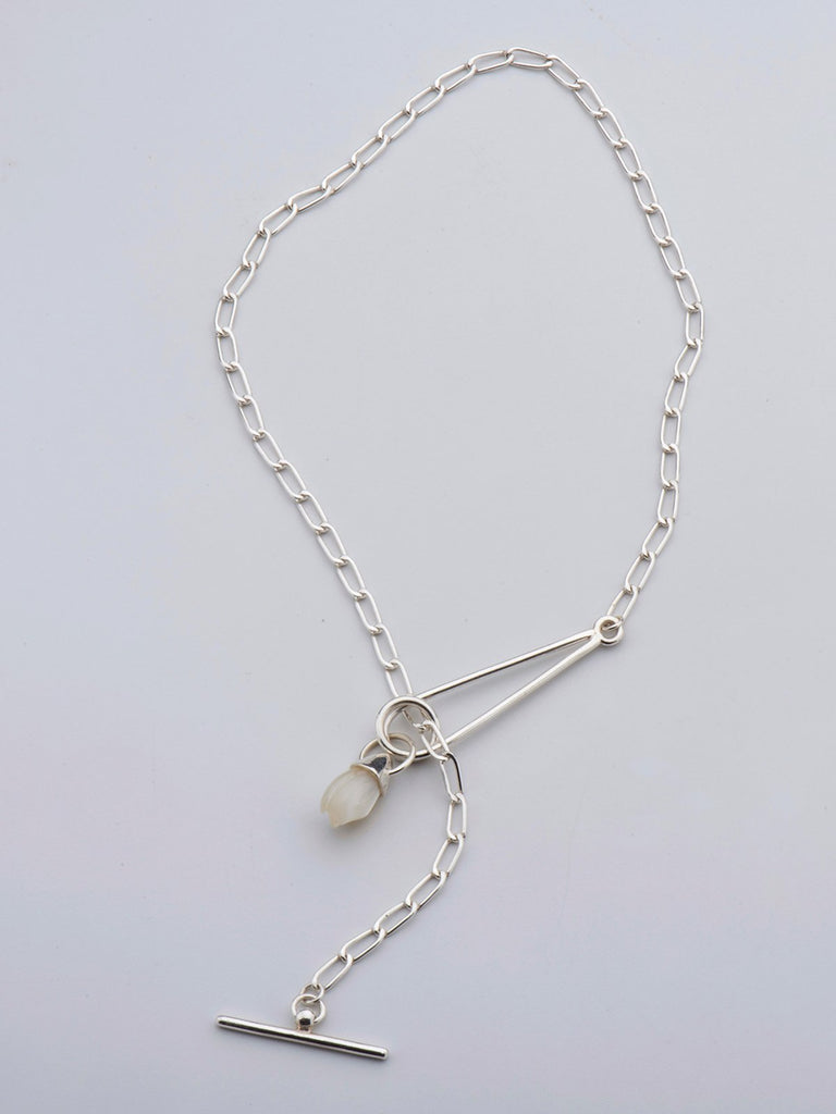 Born From Rock Tulip Charm Necklace - Moxie Tel-Aviv
