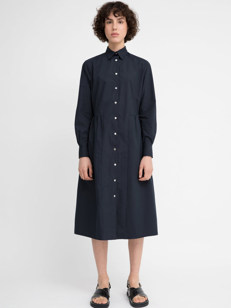 Hannah Flora Navy Blue Dress - Moxie Tel-Aviv
