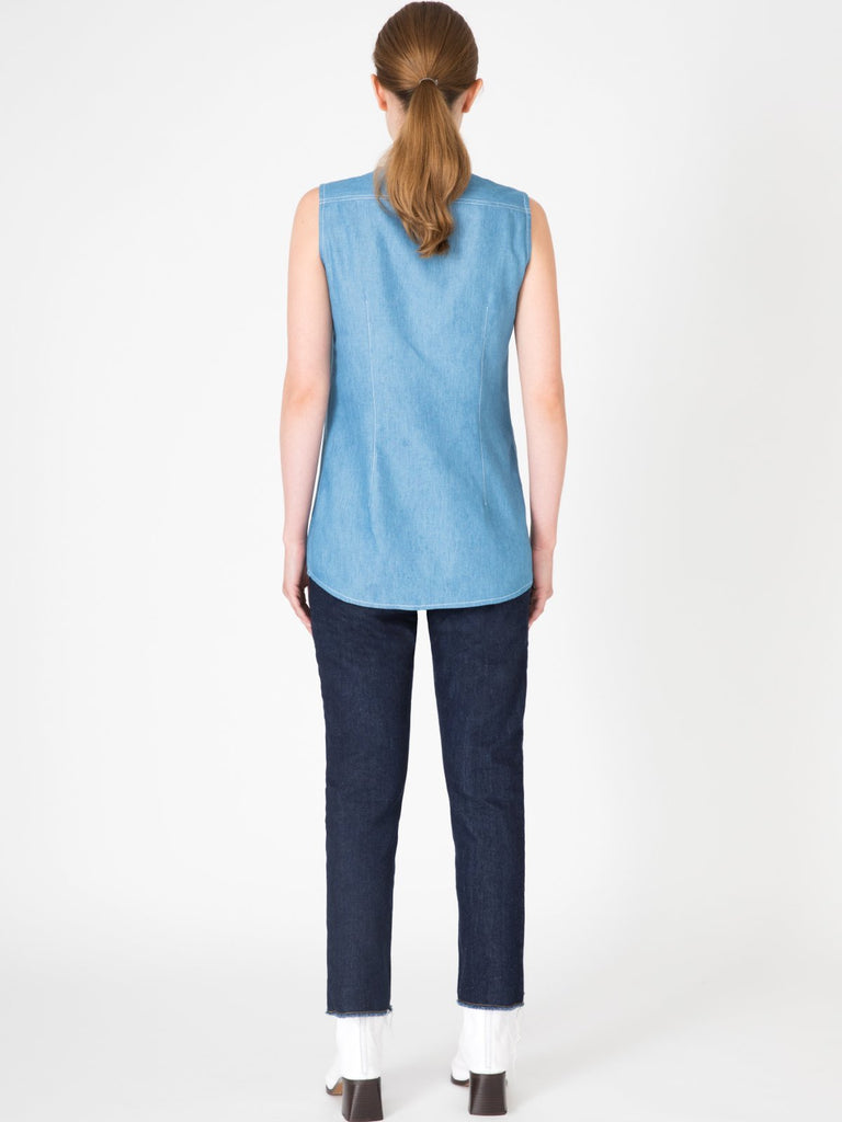 Hannah Haru Light Blue Denim Shirt - Moxie Tel-Aviv