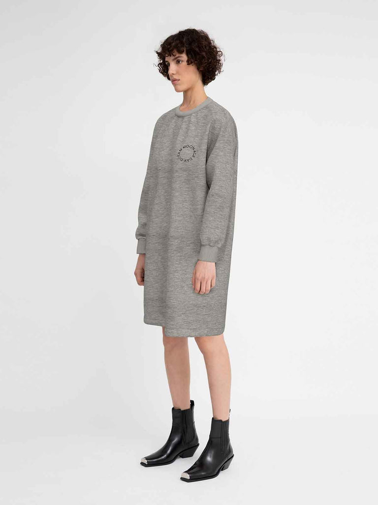 Hannah Moon Age Dress - Grey - Moxie Tel-Aviv
