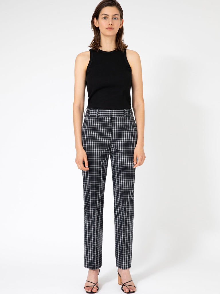 Hannah Oliver Black & White Checkered Pants - Moxie Tel-Aviv