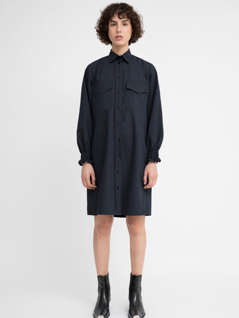 Hannah Sophie Navy Blue Dress - Moxie Tel-Aviv