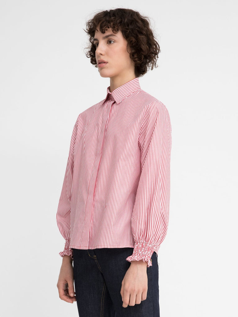 Hannah Sophie Red Stripes Shirt - Moxie Tel-Aviv