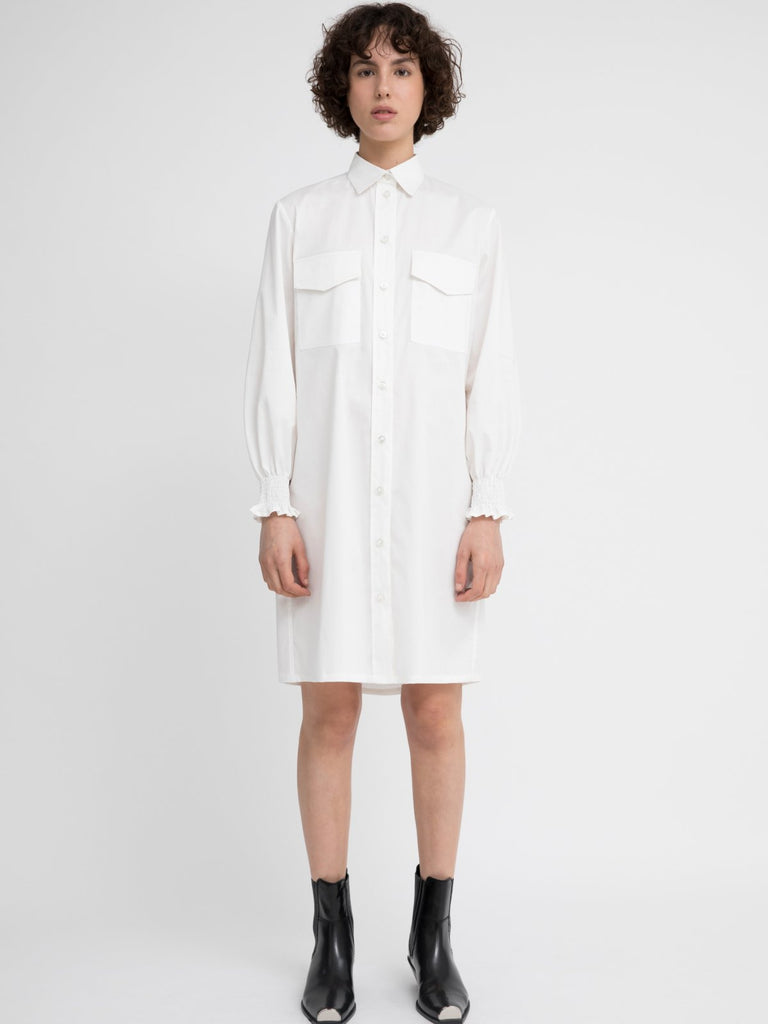 Hannah Sophie White Dress - Moxie Tel-Aviv