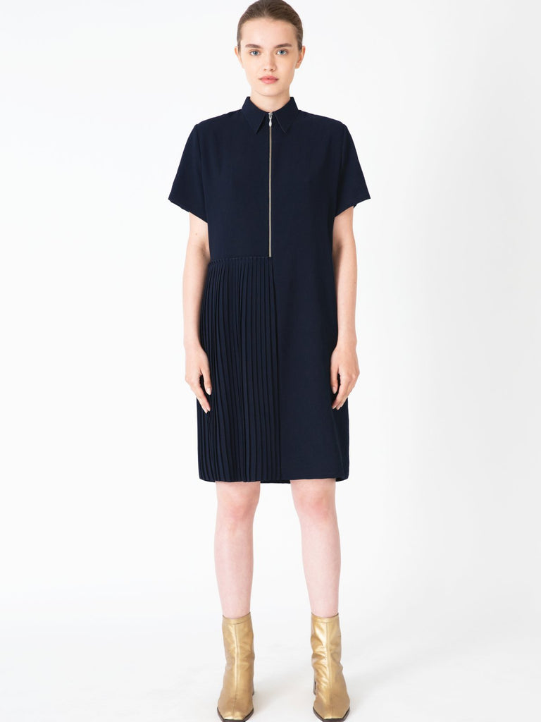 Hannah Tori Navy Blue Dress - Moxie Tel-Aviv