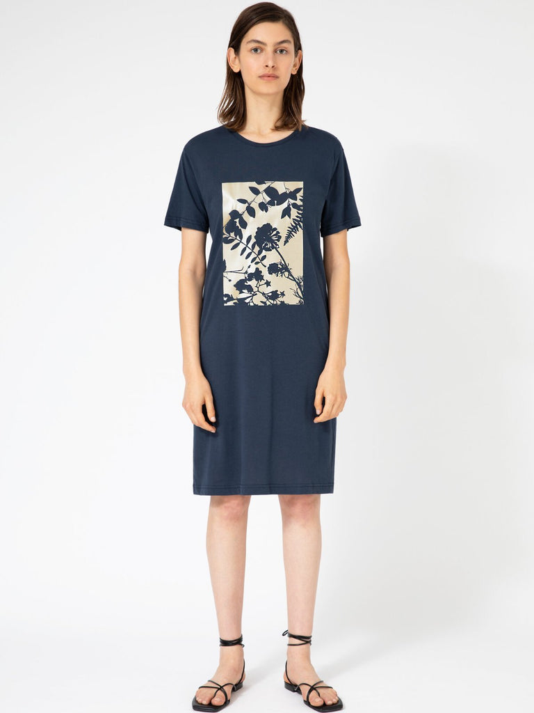 Hannah Wildflowers Blue T-shirt Dress - Moxie Tel-Aviv