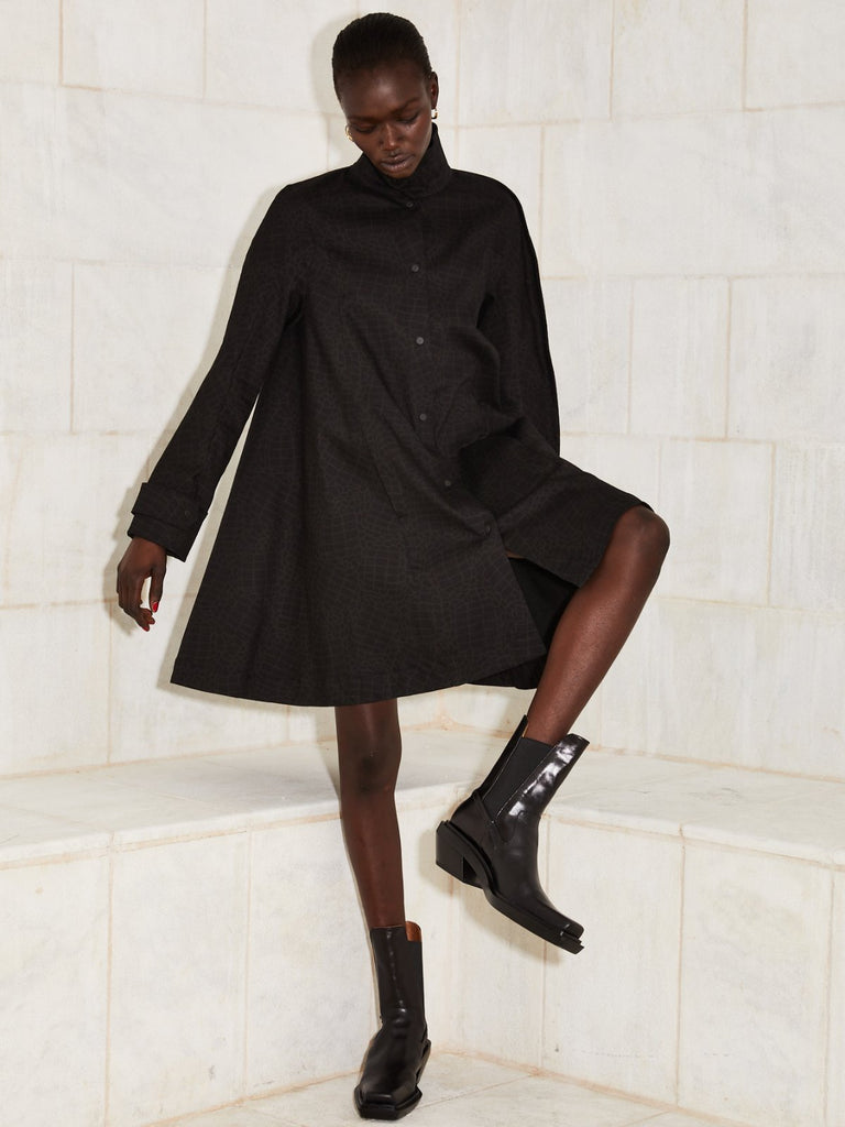 Julliett Ann Dress - Black Cotton - Moxie Tel-Aviv