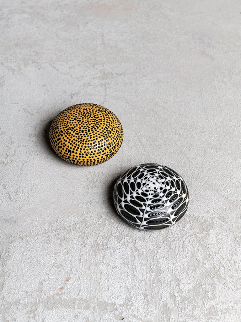 Maiyan Ben-Yona Salt And Pepper Shakers - Yellow And Black - Moxie Tel-Aviv
