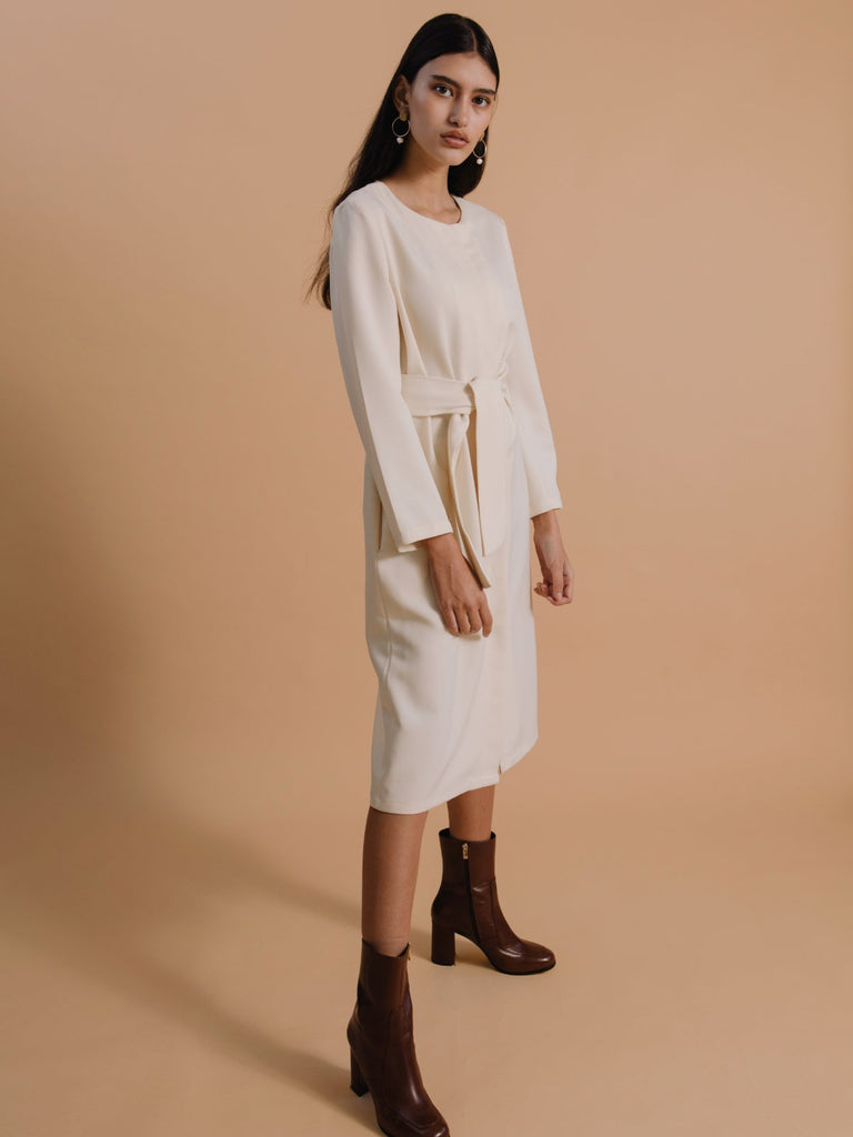 Mamo Gallabia Dress - Cream - Moxie Tel-Aviv