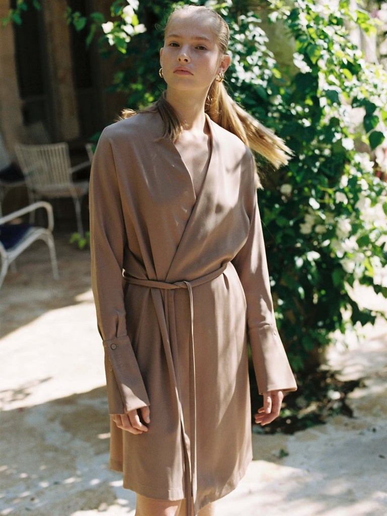 Mamo Lillian Dress - Camel - Moxie Tel-Aviv