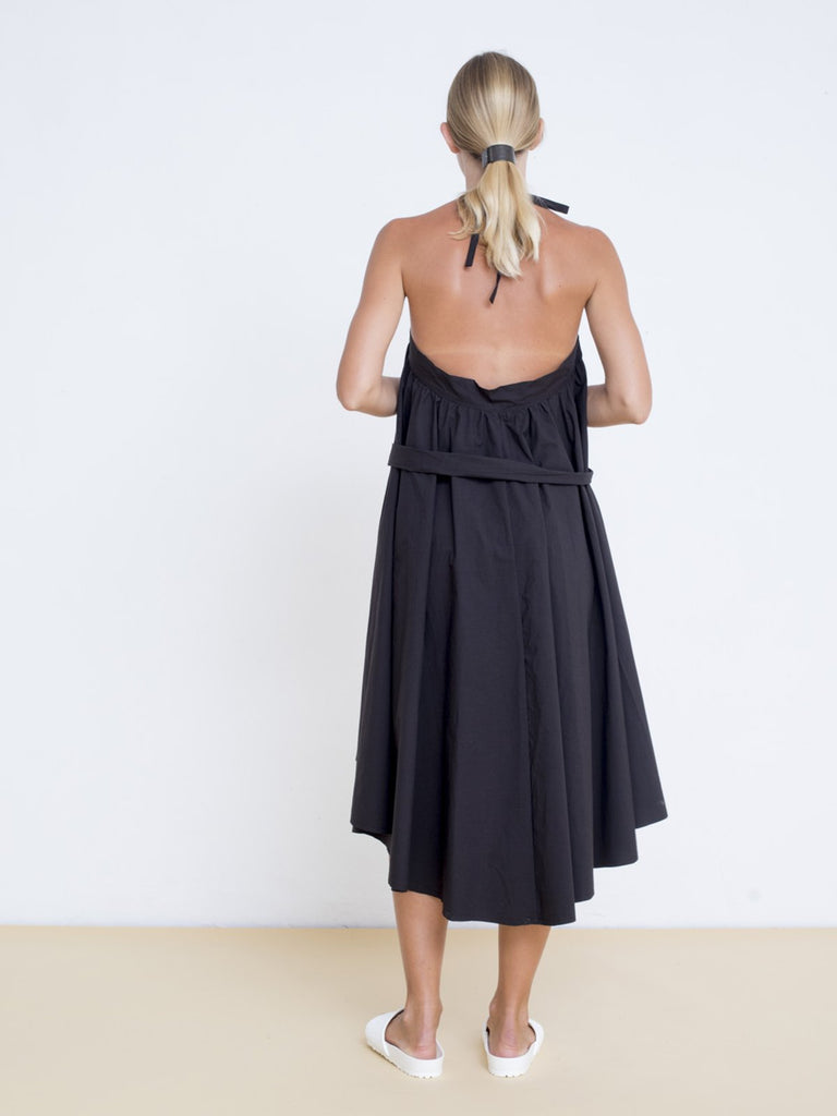 Maya Bash Black Sarafan Dress - Moxie Tel-Aviv