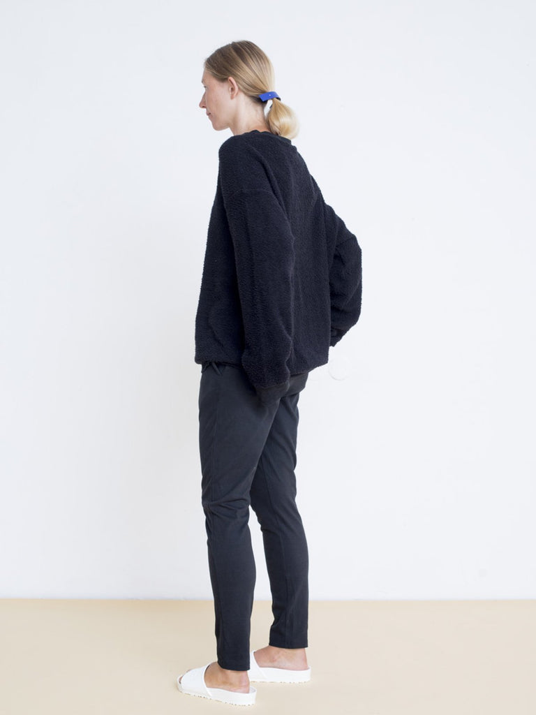 Maya Bash Black Slim Tricot Sweatpants - Moxie Tel-Aviv
