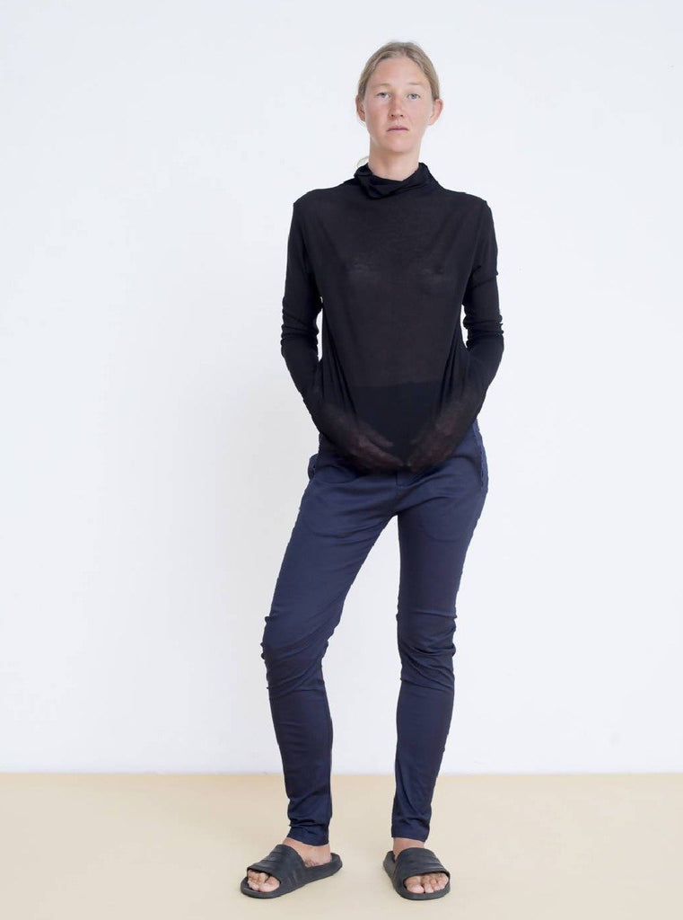 Maya Bash Black Turtle Neck Top - Moxie Tel-Aviv