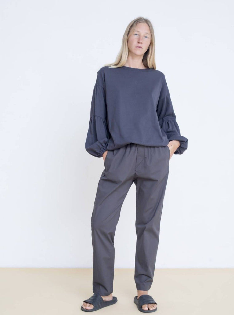 Maya Bash Dark Grey Cotton Sweatpants - Moxie Tel-Aviv