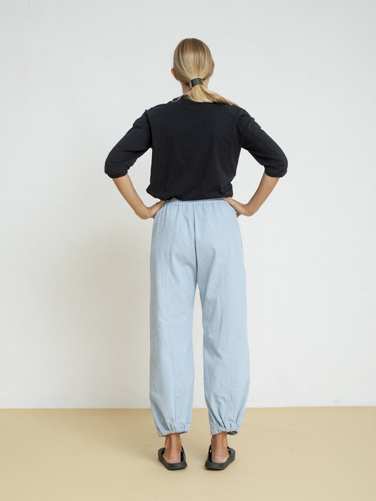 Maya Bash Light Blue Balloon Pants - Moxie Tel-Aviv
