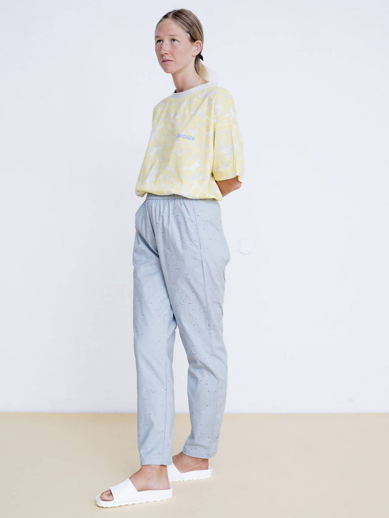 Maya Bash Light Blue Cotton Sweatpants - Moxie Tel-Aviv