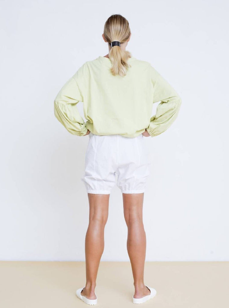 Maya Bash Light Green Top With Balloon Sleeves - Moxie Tel-Aviv