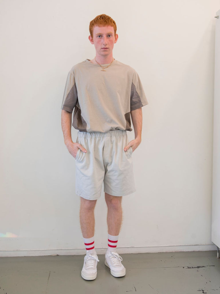 Maya Bash Light Grey Grandpa Shorts - Moxie Tel-Aviv
