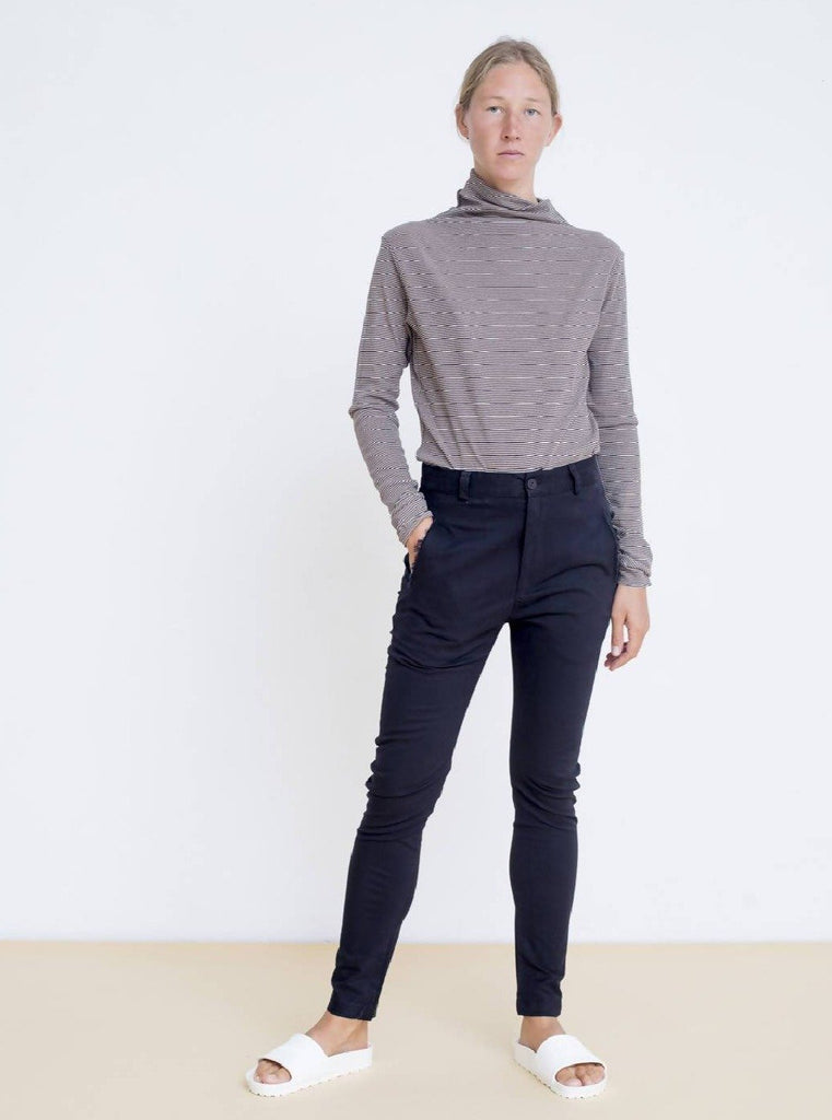 Maya Bash Striped Turtle Neck Top - Moxie Tel-Aviv