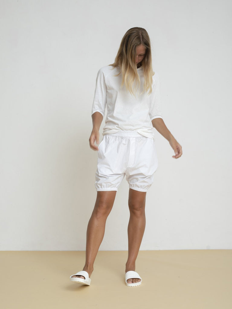 Maya Bash White Elbow Length T-Shirt - Moxie Tel-Aviv