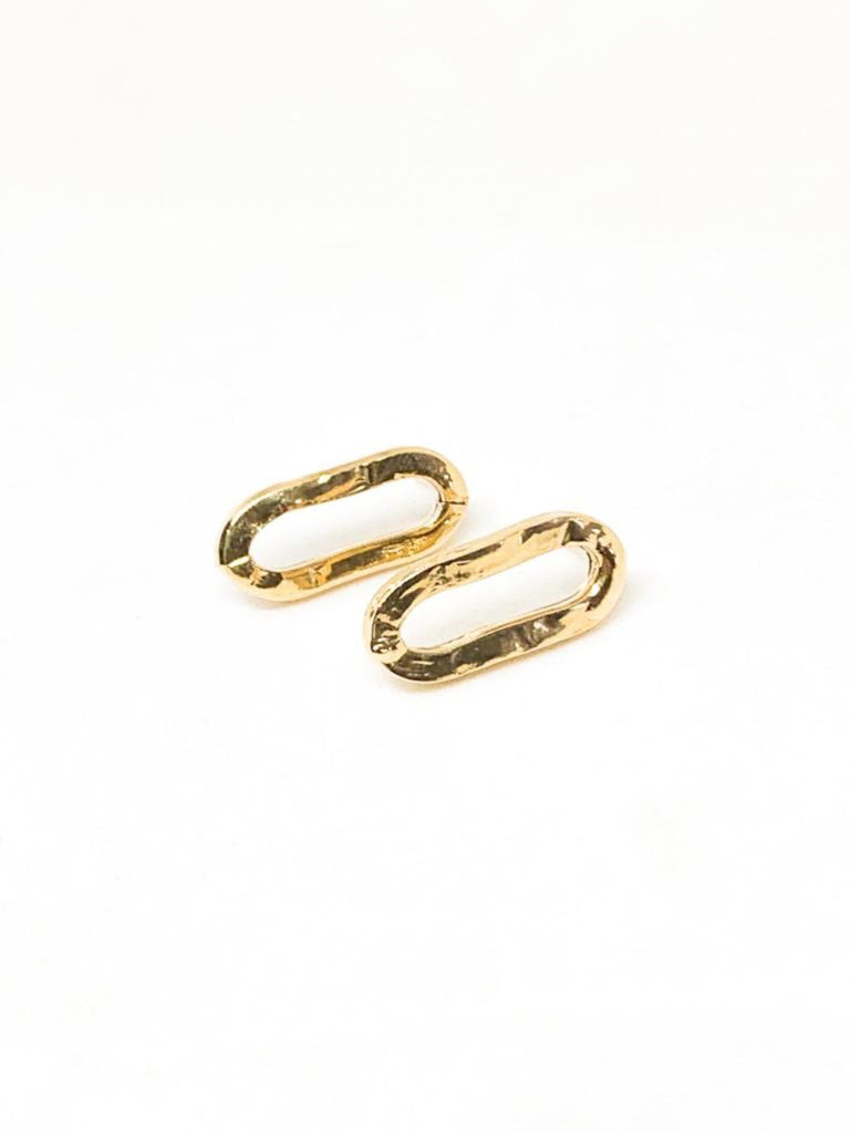 Michal Ben-Ami Ann-Basic Earrings - Gold - Moxie Tel-Aviv