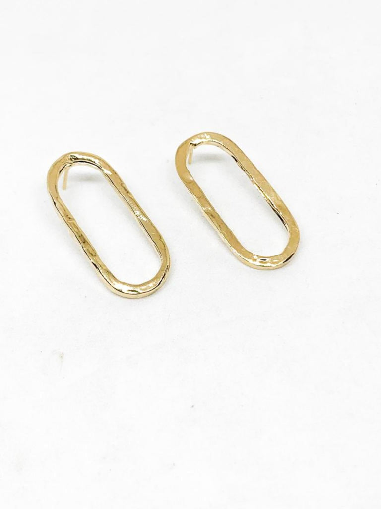 Michal Ben-Ami Madeleine-Basic Earrings - Gold - Moxie Tel-Aviv