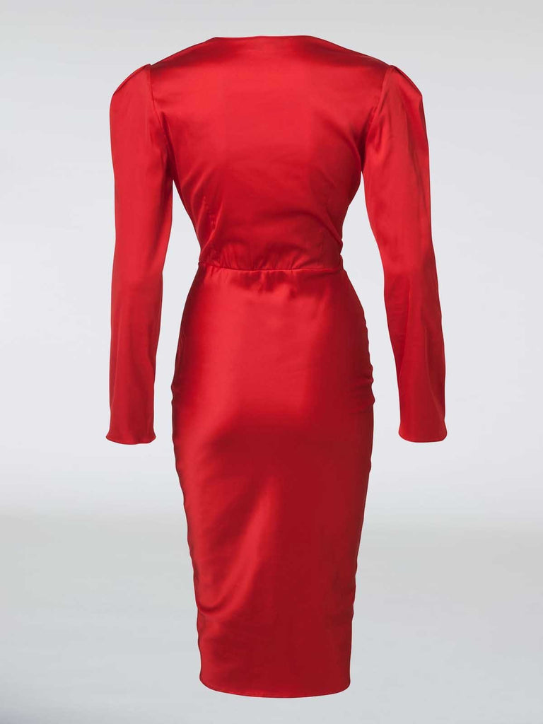 Mother Of All Dora Dress - Red - Moxie Tel-Aviv