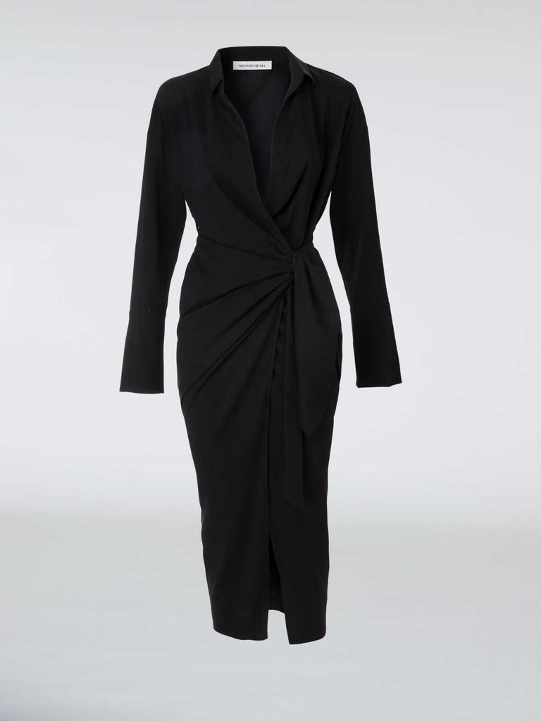 Mother of All Gisele Dress - Black - Moxie Tel-Aviv