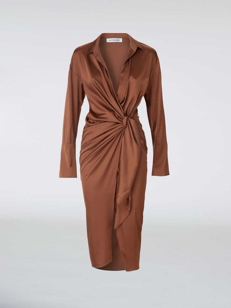 Mother of All Gisele Dress - Caramel - Moxie Tel-Aviv