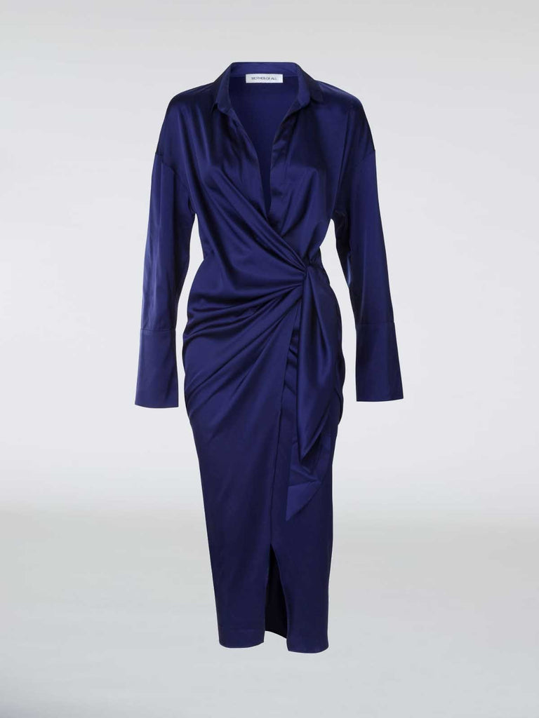 Mother of All Gisele Dress - Midnight Blue - Moxie Tel-Aviv