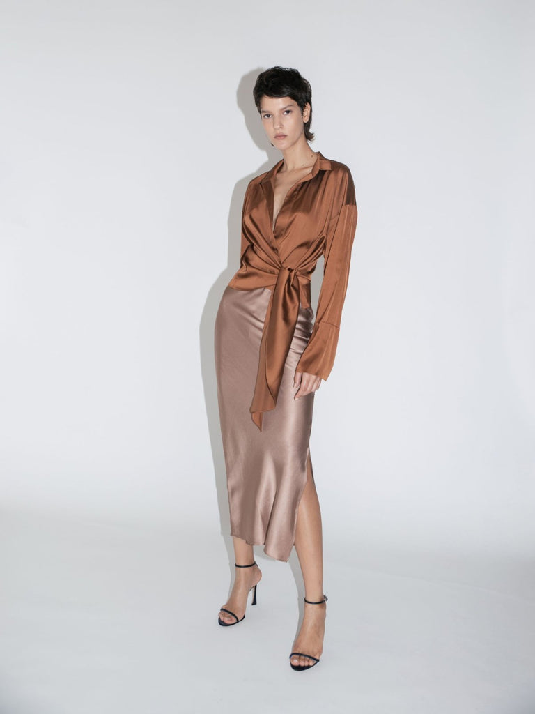 Mother of All Gisele Top - Caramel - Moxie Tel-Aviv