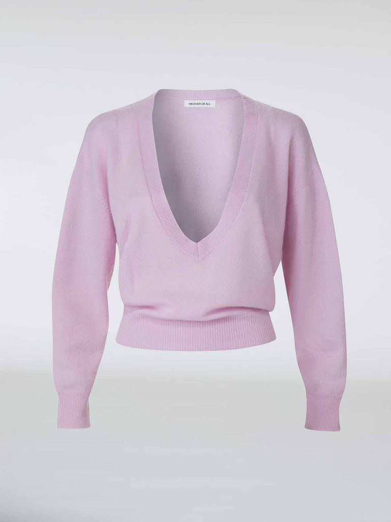 Mother Of All Ira Cashmere Knit - Lilac - Moxie Tel-Aviv