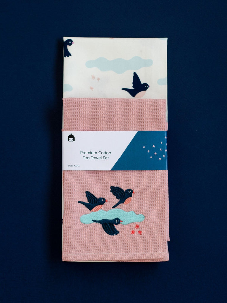 Nama Birds Tea Towel Set - Moxie Tel-Aviv