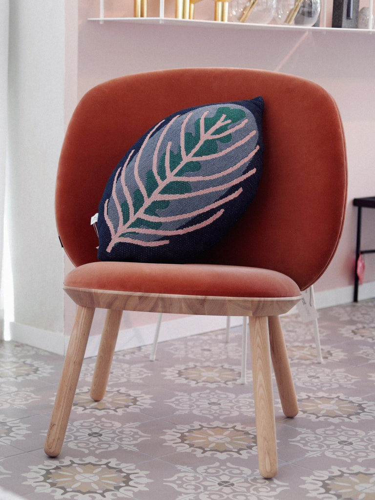 Nama Genesis - Decorative Leaf Throw Pillow - Calathea - Moxie Tel-Aviv