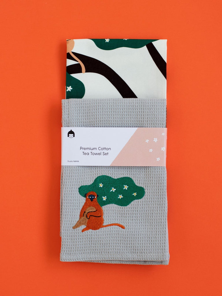 Nama Monkey Tea Towel Set - Moxie Tel-Aviv