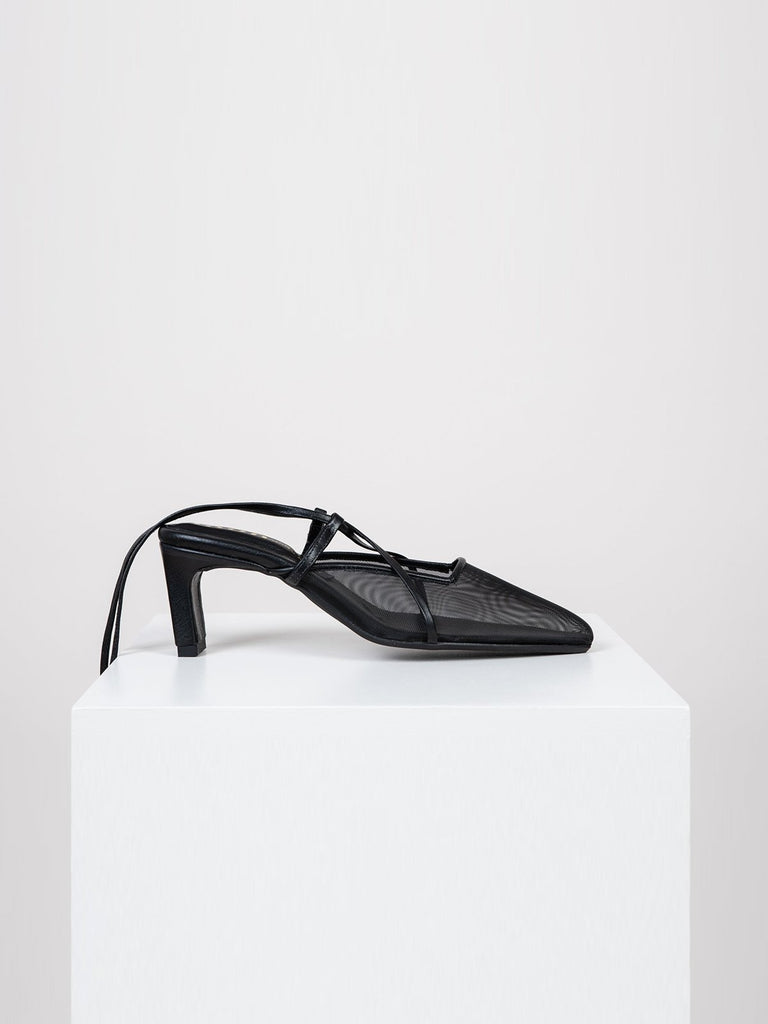 Noon Burning Up Pumps - Black Mesh - Moxie Tel-Aviv