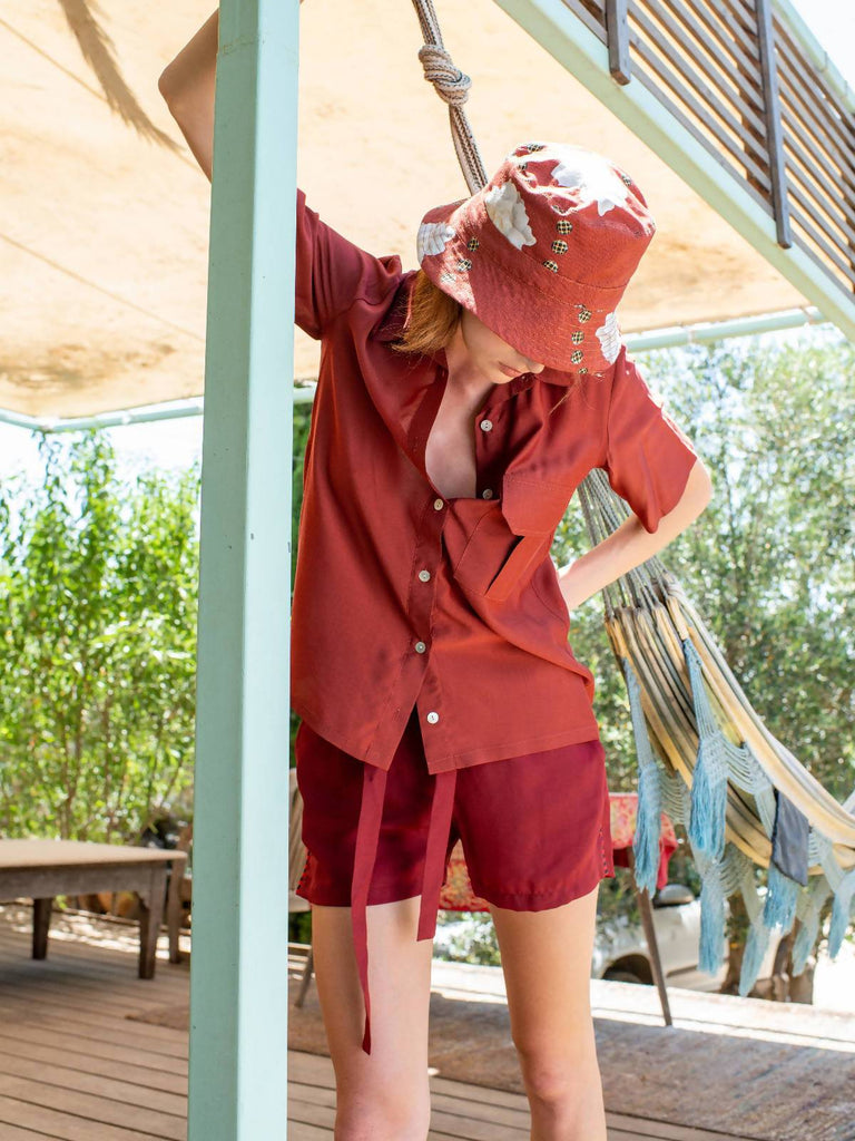 Ronna Nice Bucket hat - Red Blanch print - Moxie Tel-Aviv