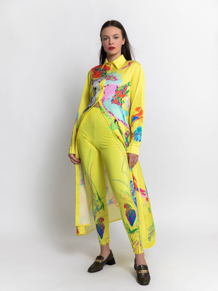 Shahar Avnet Kakadu Dress - Yellow - Moxie Tel-Aviv