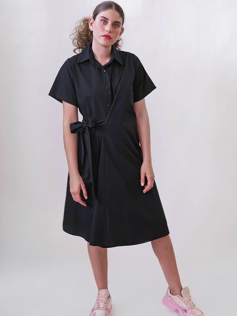 Shahar Avnet Licorice Dress - Black - Moxie Tel-Aviv