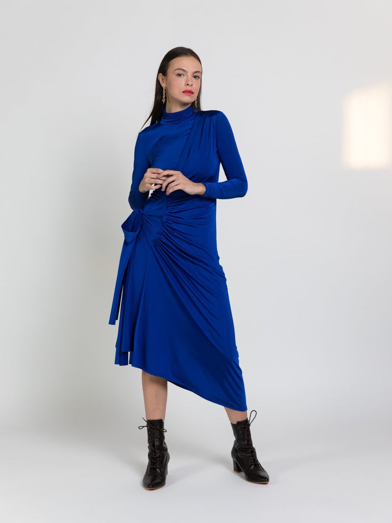 Shahar Avnet Ocean Dress - Blue - Moxie Tel-Aviv