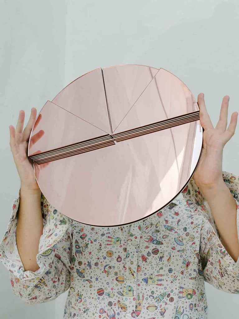 Studio Reish Happy Pie Mirror - Pink - Moxie Tel-Aviv
