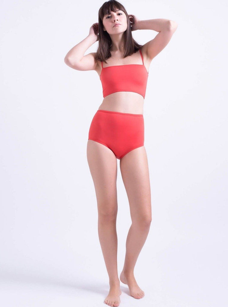 Tutu.B Bikini Bottom Coral Red - Moxie Tel-Aviv