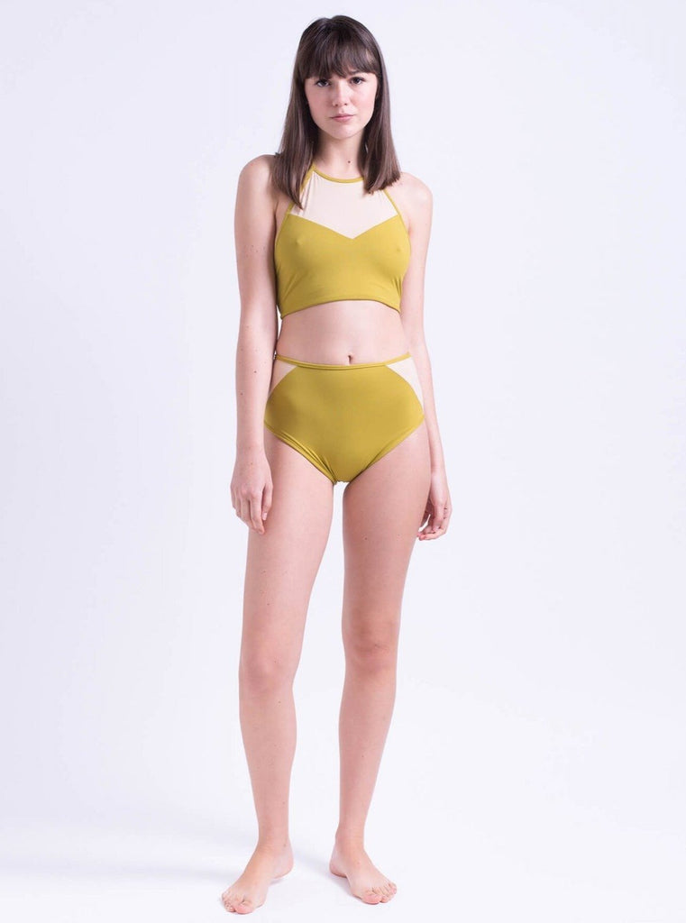 Tutu.B Chloe Bikini Bottom Apple Green - Moxie Tel-Aviv
