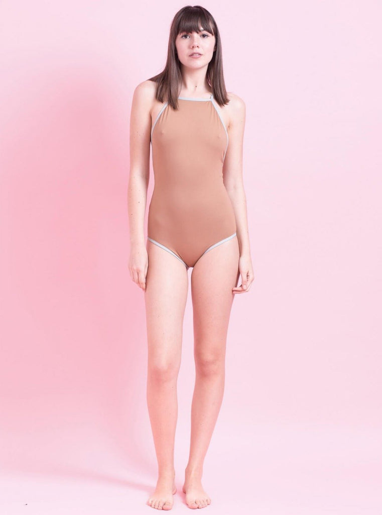 Tutu.B Liv Brown/Grey Frame One-Piece - Moxie Tel-Aviv