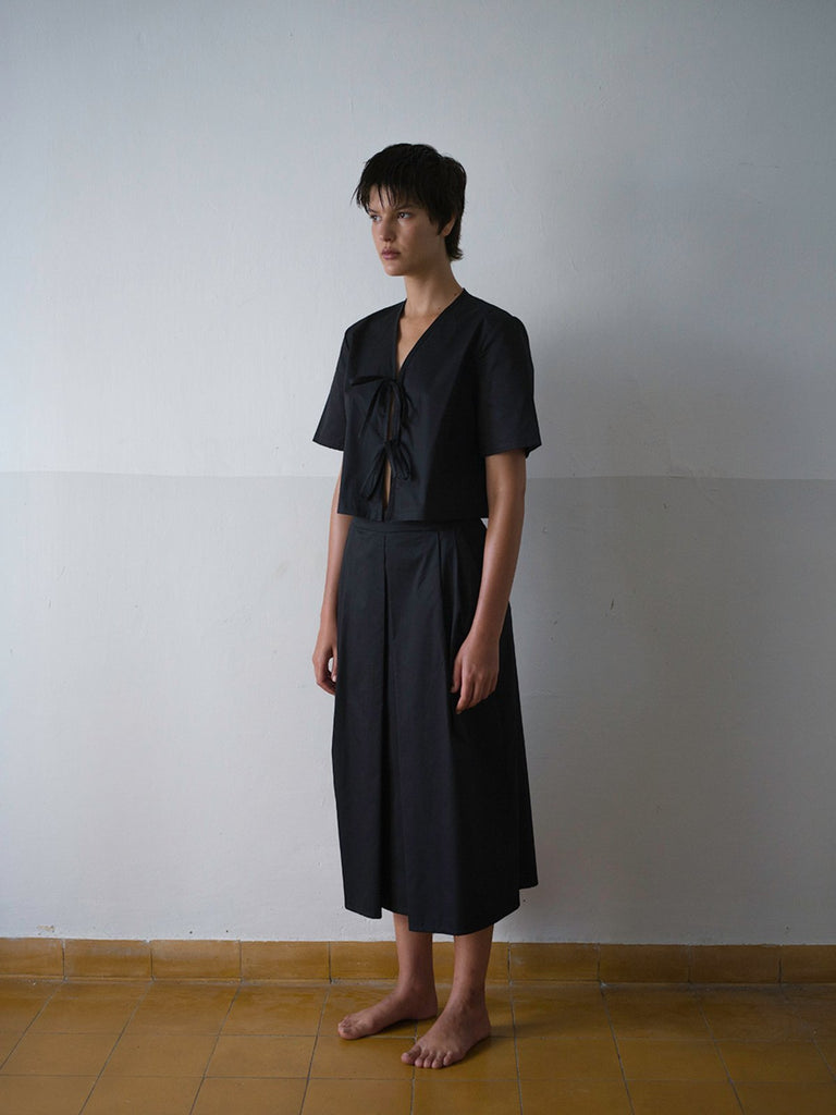 Tutu.B The Tailored Shirt - Black - Moxie Tel-Aviv