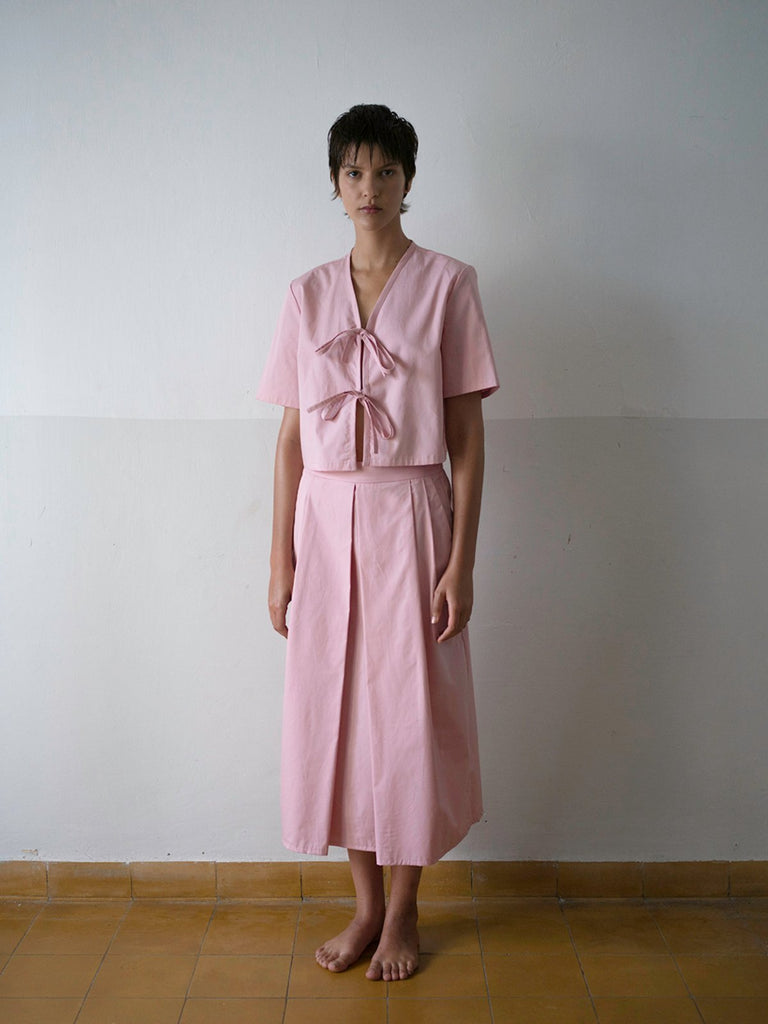 Tutu.B The Tailored Shirt - Pastel Pink - Moxie Tel-Aviv