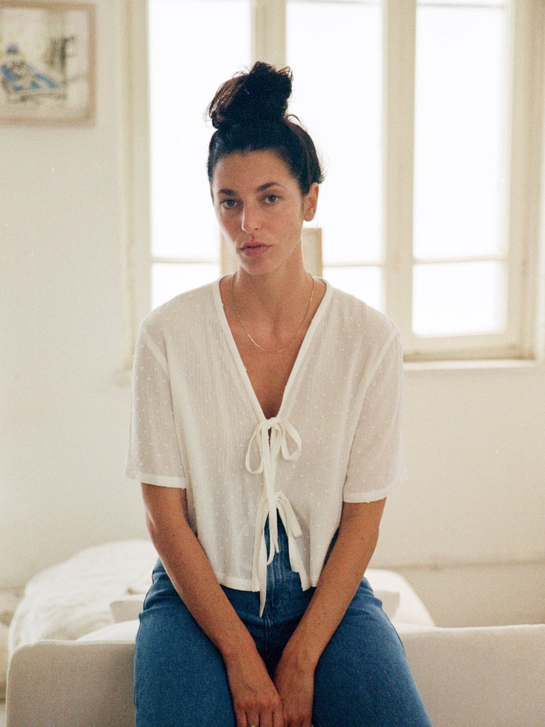 Tutu.B The Tailored Shirt - White - Moxie Tel-Aviv