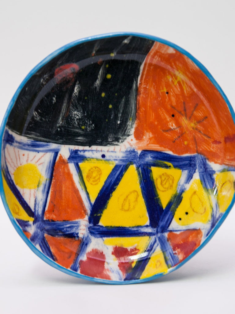 Yaara Oren Granny Ceramic Plate- Abstract Artwork I - Moxie Tel-Aviv
